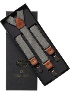 Scotch & soda herringbone suspenders…