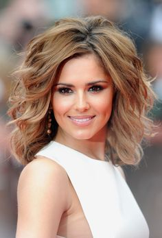 Cheryl Cole Lookbook: Cheryl Cole wearing Short Wavy Cut (24 of 125). The beautiful brunette wore a voluminous, waved hairstyle with honey-hued highlights.