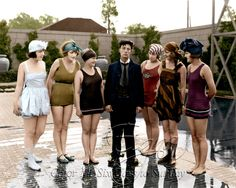 Buster Keaton with Bathing Beauties by BooBooGBs on DeviantArt Black White Photos, Black And White, Sunday Photos, Bathing Beauties, Comedians, 1920s, Bathing Suits, Classy, Hollywood