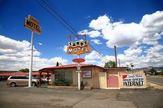 """Route 66 - Sands Motel, Grants, New Mexico. """"The Fine Art Photography of Frank Romeo."""""""