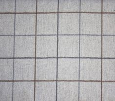 Arpege Wool Check Fabric A grey wool fabric with window pane check in mocha, grey and charcoal.