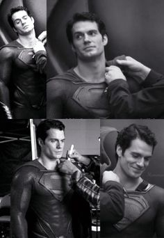 Henry Cavill as Superman 2013 behind the scenes.