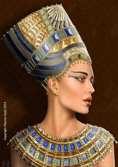 Cleopatra ( art by Maxine Gadd ) Egyptian Makeup, Egyptian Fashion, Egyptian Beauty, Egyptian Women, Ancient Egyptian Art, Ancient Egypt Fashion, Ancient Aliens, Ancient History, Egyptian Goddess Costume