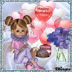 Happy Birthday, Geburtstag, Blumen, Torte, Happy Birthday, Birthday Wishes, Holiday Gif, Photo Frame Design, Cute Chihuahua, Minnie Mouse, Birthdays, Holidays, Children