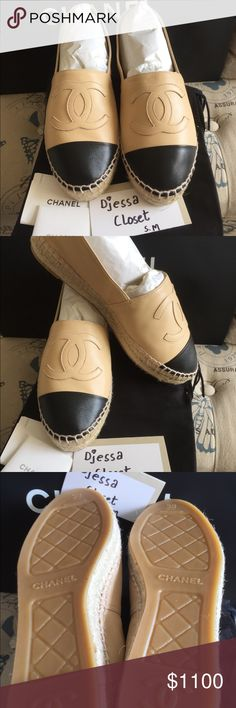 c44a15059832 Brand New in Box CHANEL ESPADRILLES SIZE 38 Brand New and never  worn...BOUTIQUE FRESH..Comes with 2 dustbags