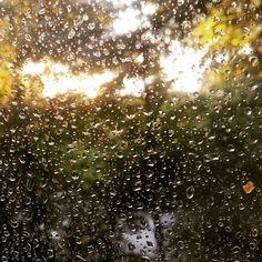via Instagram ewa_hh: #überwasser #regenamfenster #sonnenuntergang