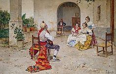 """""""Valencianos"""". Joaquín Agrasot Juan (Orihuela, 24 de diciembre de 1836 - Valencia, 8 de enero de 1919) fue un pintor español, encuadrado en el género realista y costumbrista."""