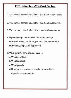 Lorinda-Character Education: Five Guarantee's You Can't Control