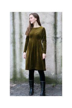 Klänning med veck velour