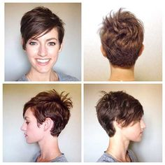 Are you bored with your current hair and wanted a fresh new style? One of beautiful ways to wear short hair is by using long pixie hairstyles. The perfect pixie look can be glamorous, elegant and sophisticated. Edgy Pixie Hairstyles, Curly Pixie Haircuts, Best Short Haircuts, Curly Hair Cuts, Short Hairstyles For Women, Short Hair Cuts, Curly Hair Styles, Cool Hairstyles, Undercut Pixie