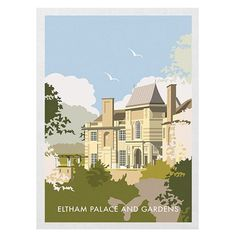 Eltham Palace Tea Towel from Star Editions. Buy from the online gift shop at English Heritage.