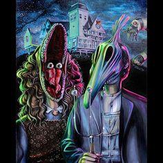 #art #notmine #beetlejuice #timburton #macabre #80s #horror #horroricon #creepy #weird #paranormal