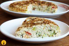 Tortilla de pollo y verduras
