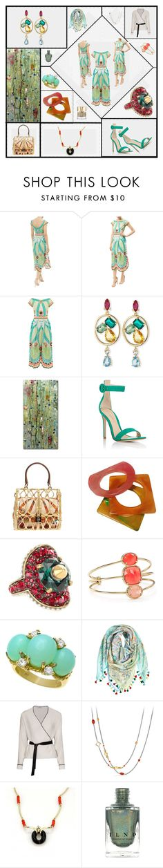 """Summer's End"" by ruby-flip-flops ❤ liked on Polyvore featuring Temperley London, Oscar de la Renta, Trademark Fine Art, Gianvito Rossi, Dolce&Gabbana, Yves Saint Laurent, Gucci, Kate Spade, Calypso St. Barth and David Yurman"