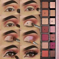 Hooded Eye Makeup – Great Make Up Ideas Eye Makeup Steps, Makeup Eye Looks, Eyebrow Makeup, Love Makeup, Skin Makeup, Eyeshadow Makeup, Makeup Inspo, Makeup Brushes, Makeup Tips