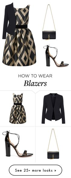 """Untitled #1369"" by carlene-lindsay on Polyvore featuring P.A.R.O.S.H., Topshop, Aquazzura and Yves Saint Laurent"