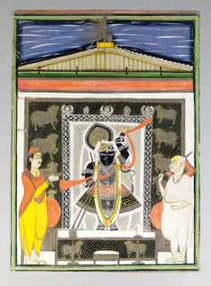 A Study Group of Shrinathji paintings, Nathwadara, 19th century, gouache on paper, comprising various sizes of devotional images, (28) Shrinathji is a form of Hindu god Krishna, manifest as a seven-year-old child. The principal shrine of Shrinathji is situated at the temple town of Nathdwara, located 48 Kilometers North-east of Udaipur in Rajasthan. Shrinathji is the central presiding deity of the Vaishnava sect known as the Pushti Marg or Shuddhavaita, established by Shri Vallabhacharya… Shree Krishna, Krishna Art, Pichwai Paintings, India Culture, Oldest Child, Seven Years Old, Udaipur, Deities, Gouache