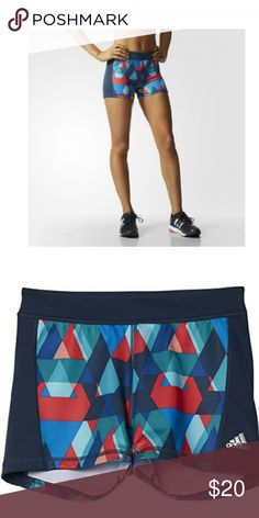 Adidas TF ST 3 GLO TRI  Shorts Multi colored Adidas tech fit CLIMALITE shorts Adidas Shorts