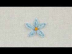 Mavi Mine Çiçeği 2 | Berrin Şengöz ile Teknikler | Hobi Sitesi - YouTube