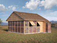 Shigeru Ban unveiled a plan to reuse brick salvaged from collapsed buildings as construction material for transitional relief shelters in Nepal.