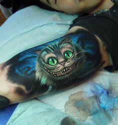 Cheshire Cat http://ifltattoos.com/cheshire-cat/ - Tattoo Designs & Ideas