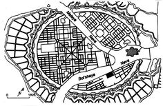 The master plan of the French architect and garden designer Le Blond for St Petersburg in 1716