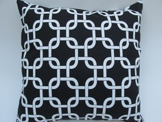 """Black Chain Link Pillow Cover 18 x 18"""" by Pillomatic, $16.00"""