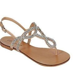 Blinged Out Natural Sandals
