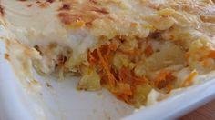 Bacalhau no forno com cenoura