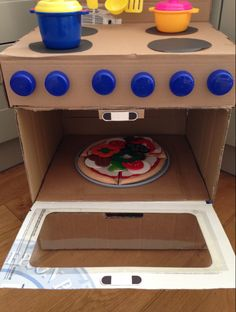 Kartondan Oyuncak Fırın Nasıl Yapılır | Oyuncak Rehberim