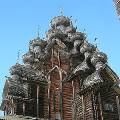 Russia, Kizhi Island, This Wooden Domed Church is over 400 yrs old. Church of the Transfiguration.  |Coolclimates fiber and handspun yarn