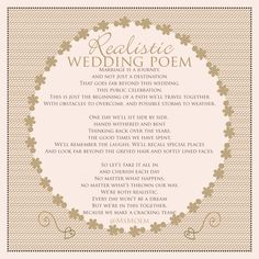 realistic wedding poem by ms moem ~ world poetry day 2016 Wedding Poems, Wedding Cards, Our Wedding, Rustic Wedding, Wedding Stuff, Love My Husband Quotes, Always Love You Quotes, Mother Of The Groom Gifts, Mother Of The Bride
