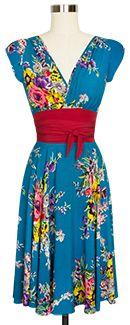 Trashy Diva Sandy Ties Dress sandy1ties-turquoisefloral