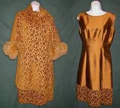 Vintage Lilli Ann 1960's Gold Tapestry Coat by RememberMeClothing