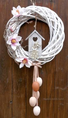 attractive easter wreaths that looks fancy captivating ethinify easter wreath easter decor spring wreath spring door spring decor bunny wreath bunny decor Wreath Crafts, Diy Wreath, Easter Wreaths, Holiday Wreaths, Diy And Crafts, Arts And Crafts, Diy Ostern, Summer Wreath, How To Make Wreaths