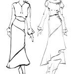 hand drawn long dress fashion model sketch Fashion Model Sketch, Fashion Design Sketches, Fashion Models, Long Dress Fashion, Fashion Dresses, Pencil And Paper, Hand Drawn, How To Draw Hands, Art