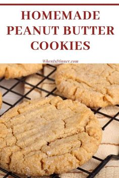 The BEST Homemade Peanut Butter Cookies Recipe with a soft & chewy cookie that is chock full of peanut butter flavor. Easy No Bake Desserts, Homemade Desserts, Delicious Desserts, Easter Desserts, Homemade Peanut Butter Cookies, Peanut Butter Recipes, Sweet Recipes, Snack Recipes, Dessert Recipes