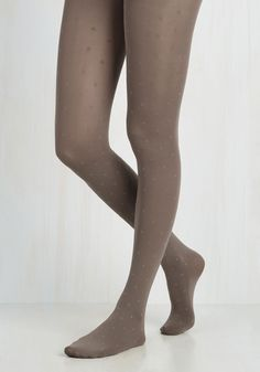 Spot of Spontaneity Tights in Taupe. At the last minute, you opt to add these darling tights to your ensemble and are delighted with your flirty finishing touch! #tan #modcloth