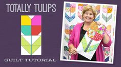 Totally Tulips Quilt Pattern by Missouri Star - Missouri Star Quilt Co. - Missouri Star Quilt Co. - Finished size: x />Quilt pattern for squares. From Missouri Star Quilt Company Jenny Doan Tutorials, Msqc Tutorials, Quilting Tutorials, Quilting Projects, Quilting Designs, Quilting Ideas, Sewing Projects, Star Quilts, Easy Quilts