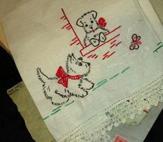 Vintage Scottie Dog Linen
