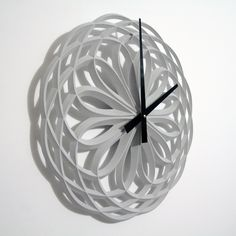 Rose 16IN concrete clock