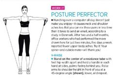 so our mom's will quit harping on us ; Perfect Posture, Good Posture, Improve Posture, Fitness Nutrition, Fitness Tips, Fitness Motivation, Posture Stretches, Resistance Band Exercises, I Work Out