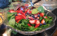 Iron - My N.D. has me on supplements too, but here's a whole food alternative.   Spinach & Strawberry Salad. The vitamin C in the strawberries enhance iron absorption of the dark leafy greens. To be mindful of sugar I'd make an alternative to the honey mustard dressing suggested here.