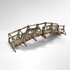 3d bridge wood model