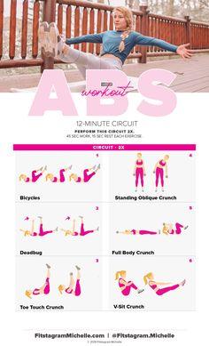 12-minute ab burner workout  — Fitstagram Michelle