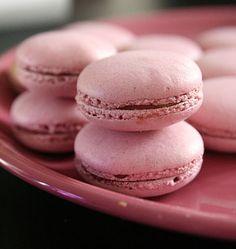 Macarons au sirop d'hibiscus - Ôdélices : Recettes de cuisine faciles et originales !