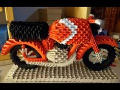 #29/19 Origami 3d - tutorial fotografico - Moto rossa - YouTube Hama Beads 3d, Dyi, Diy Gift Box, 3d Tutorial, 3d Origami, Kokeshi Dolls, Animal Quotes, Animal Tattoos, Journal Cards
