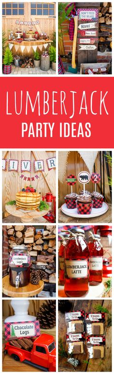 Little Lumberjack Birthday Party featured on Pretty My Party