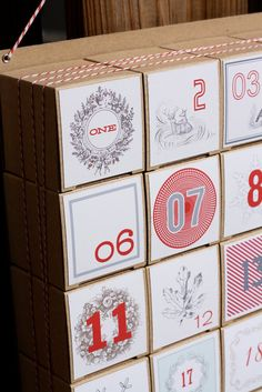 Advent Calendar / Christmas & Holiday by vintagemodernmix on Etsy, $30.00