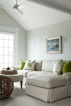 Love this style of couch (also the color of the pillows) @ ML Interior Design